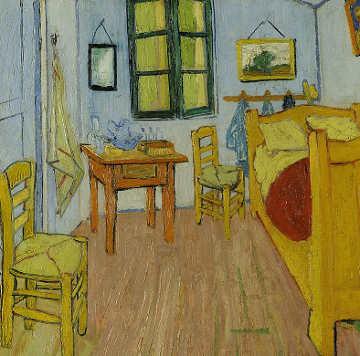 Il rosso carminio nell'arte, 3 La camera di Vincent ad Arles Van Gogh