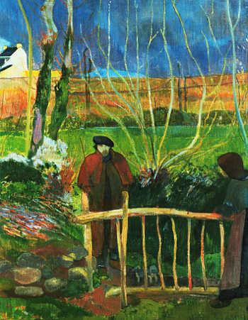 Il rosso carminio nell'arte, 4 Bonjour monsieur Gauguin di Gauguin