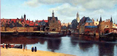Jan Vermeer Johannes Vermeer vista di Delft