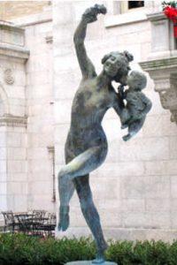 Baccante con piccolo fauno, di Frederick MacMonnies