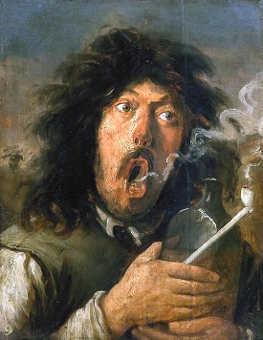 il fumatore: The smoker di Joos van Craesbeeck