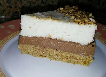 Torta fredda con cocco cioccolato extra fondente e rhum senza zucchero e pochi grassi 1