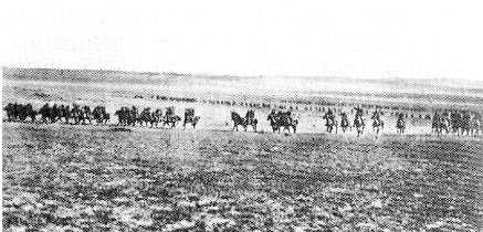 La carica della cavalleria nella battaglia di Bersheva