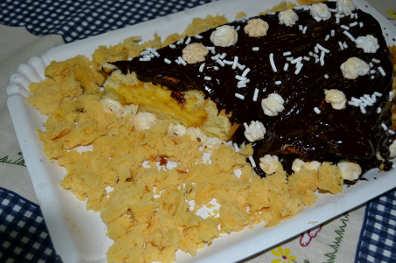 tronchetto mimosa al cioccolato 3