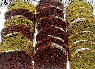 Plumcake integrale con cacao, rhum, mirtilli e zucchero di cocco