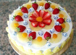 Torta fredda con crema chantilly