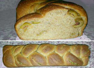 Treccia integrale plumcake con olive verdi