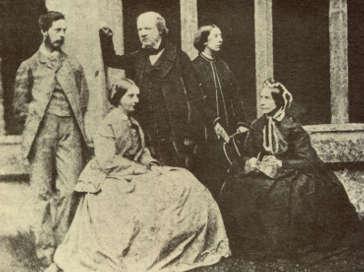 William Fox Talbot con la moglie foto di famiglia