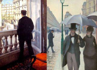 Due quadri di Gustave Caillebotte, impressioni guardando le strade di Parigi