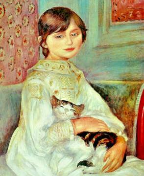 Due quadri di Renoir Julie Manet, anche Bambina con il gatto