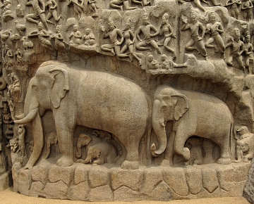 Elefanti in India nella storia