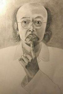 disegno del poeta Nguyen Chi Trung