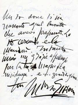 Analisi grafologica di Mario Sironi grafia in lettera