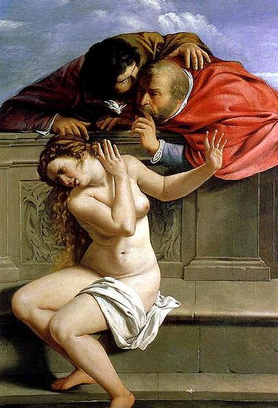 Artemisia Gentileschi, quadro 1610: Susanna e i vecchioni