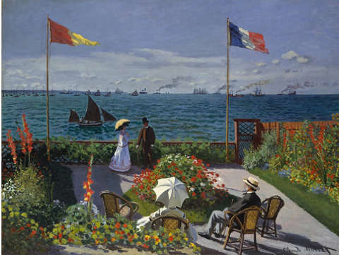 Claude Monet, 1867, Terrazza a Sainte-Adresse