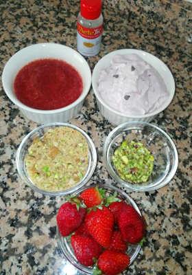 Dolce freddo fragole e ricotta ingredienti