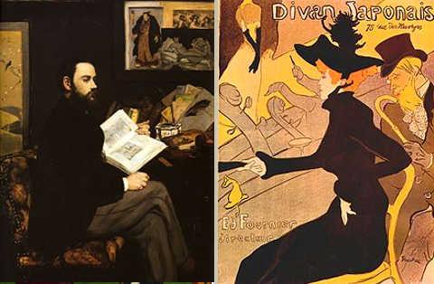 quadri di Eduard Manet e Henri de Toulouse-Lautrec