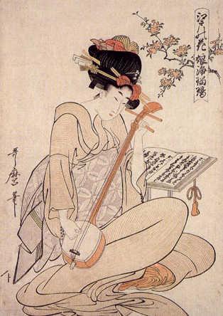 Geisha in un ritratto di Kitagawa Utamaro