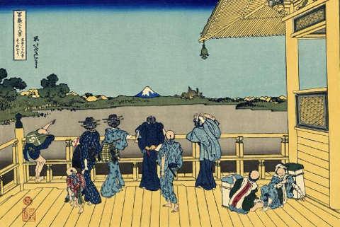 Hokusai Stampa del monte Fuji