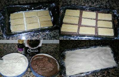 Viennetta senza zucchero preparazione