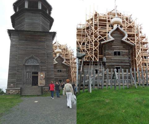 reportage crociera fluviale la via degli zar: Kizhi chiesa e campanile