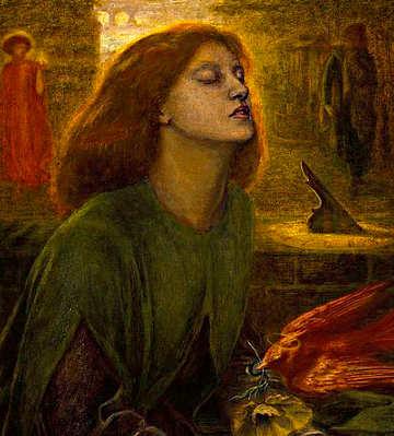 Dante Gabriel Rossetti Beatrice, modella Eleonora Elizabeth Siddal