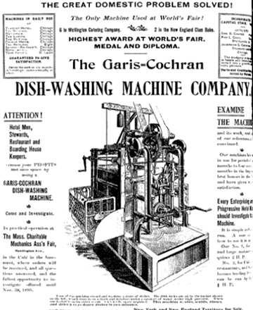 macchina di Josephine Cochrane, la lavastoviglie