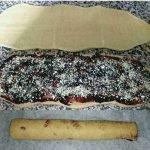 Treccia pan brioche integrale con marmellata e frutta secca, preparazione