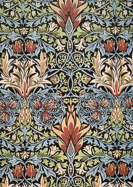 Disegno di William Morris: tessuto stampato