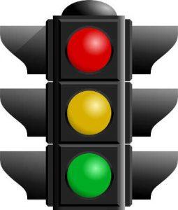 i tre colori dei semafori