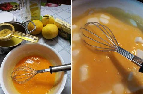 Preparazione Delizie al limone, la crema