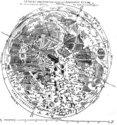 La mappa Almagestum Novum di Giovanni Battista Riccioli
