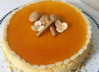 Cheesecake alla zucca e zenzero