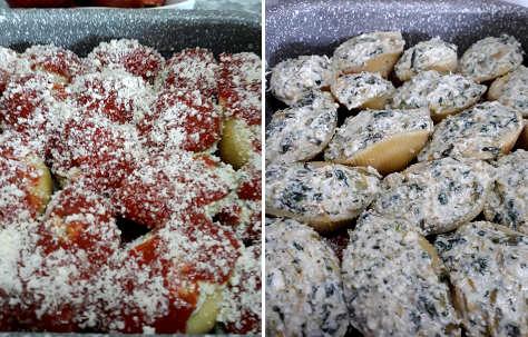 Preparazione Conchiglie di pasta ripiene con zucca, ricotta e verdure 3