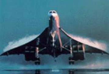 Foto del Concorde in decollo