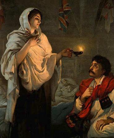 quadro La signora con la lampada Florence Nightingale