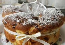 Torta Angelica con gocce di cioccolato e noci
