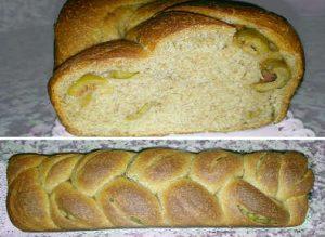 la Treccia integrale plumcake con olive verdi a