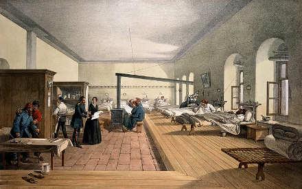 L'ospedale a Scutari di Florence Nightingale 1