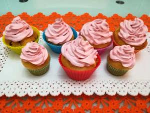 cupcake allo yogurt con frosting