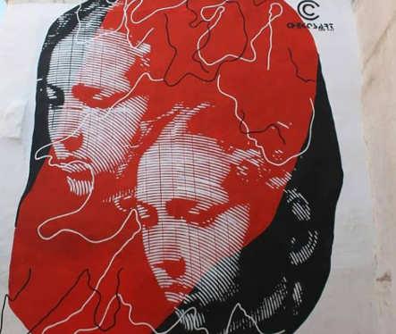 Chekos'art:, murales Giuditta