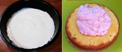 preparazione della Torta ai lamponi light senza burro