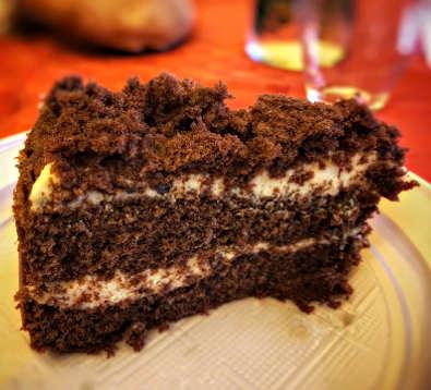 Ingredienti della Torta al cioccolato senza burro con crema al mascarpone