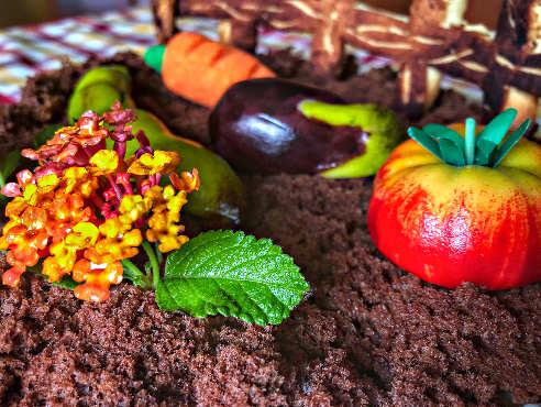 Decorazioni per la Torta al cioccolato senza burro con crema al mascarpone