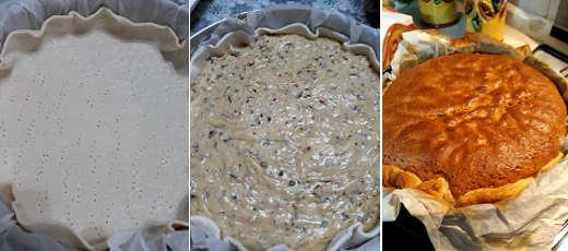 Preparazione Torta alle noci e cioccolato