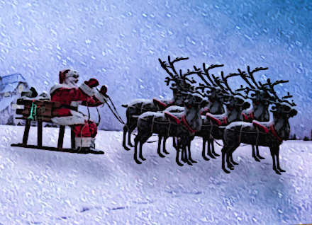 Tradizioni natalizie la slitta di Babbo Natale