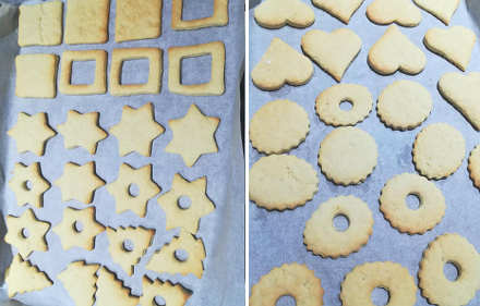Preparazione Biscotti di Natale con frolla all'olio e yogurt