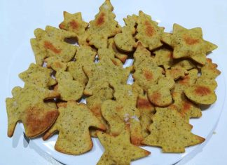 Biscotti di Natale speziati salati integrali