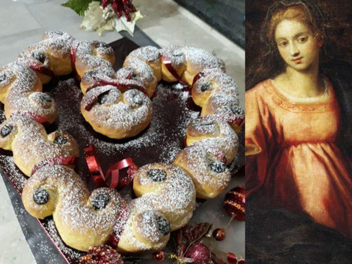 Brioche di Santa Lucia o Lussekatter dolci natalizi svedesi