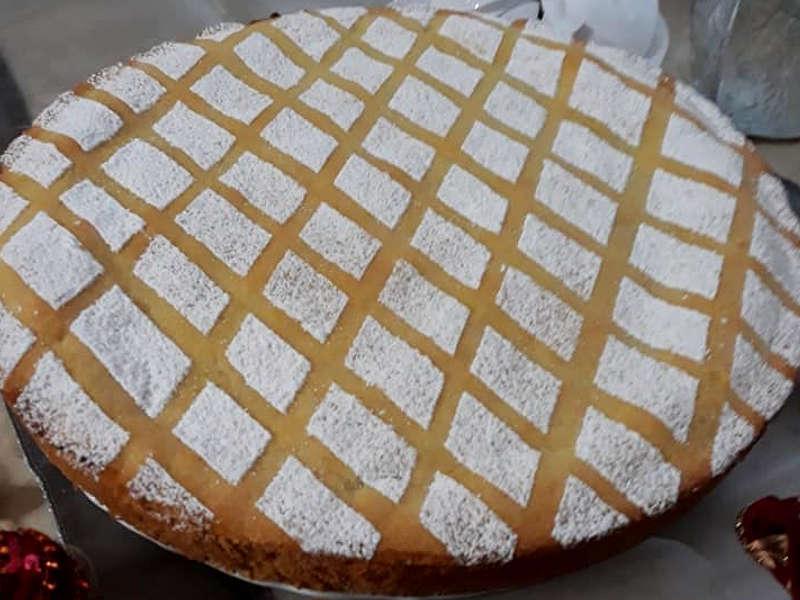 Cassata al forno senza pan di Spagna con frolla alle mandorle